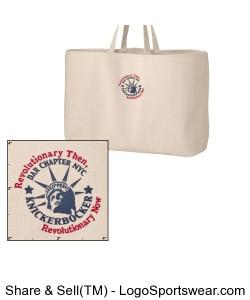 Jumbo Canvas Embroidered Tote Design Zoom