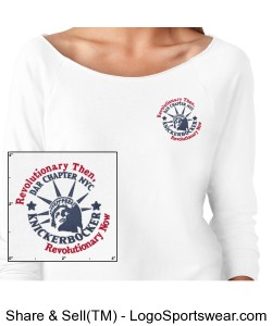 Ladies French Terry Raglan - Embroidered Design Zoom