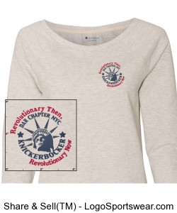 Champion - Authentic Originals Women's French Terry Crew - Embroidered Design Zoom