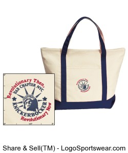 Harbor Cruise Boat Tote Design Zoom