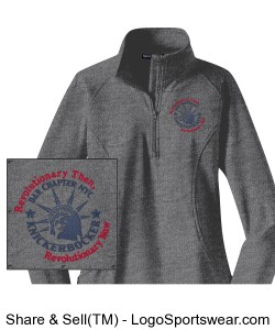 Grey Ladies Sport-Wick Stretch 1/2-Zip Pullover - Embroidered Design Zoom